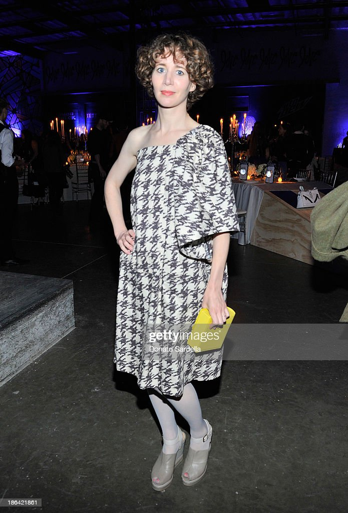 Director/actress Miranda July attends the Kenzo Kalifornia launch dinner and party at The Berrics on October 30, 2013 in Los Angeles, California.