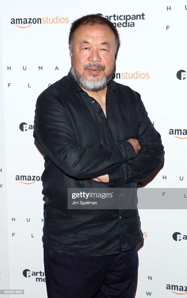 Director/artist Ai Weiwei attends the 'Human Flow' New York screening at the Whitby Hotel on October 9, 2017 in New York City.