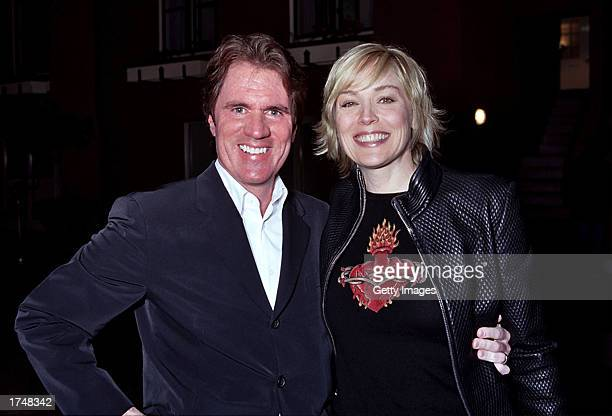 Director/choreographer Rob Marshall and actress Sharon Stone attend the special screening of 'Chicago' hosted by Stone at the Delancey Street Theater...