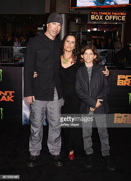 Director/cinematographer Ericson Core and family attend the premiere of Warner Bros Pictures' 'Point Break' at TCL Chinese Theatre on December 15...