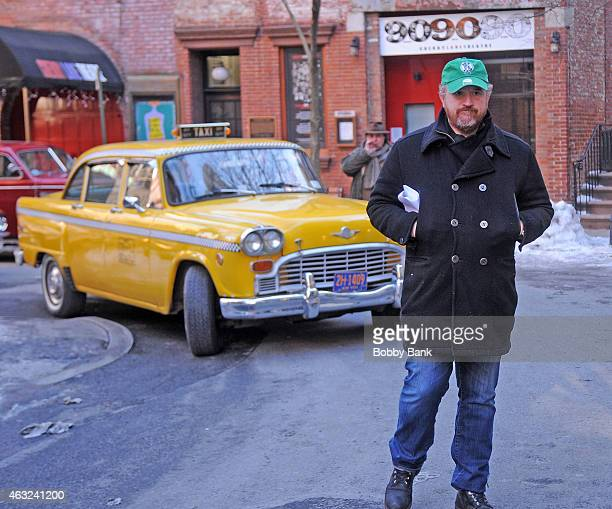 Director/comedian/actor Louis CK on the set of 'Louie' filming on February 11 2015 in New York City