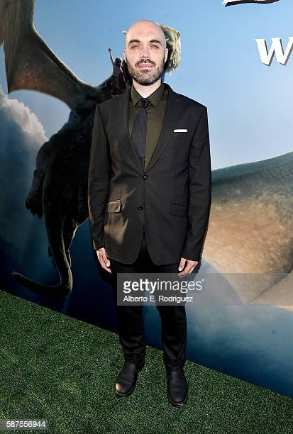 Director/coscreenwriter David Lowery arrives at the world premiere of Disney's 'PETE'S DRAGON' at the El Capitan Theater in Hollywood on August 8...