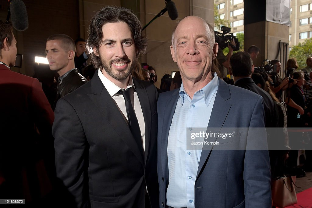 Director/Co-Writer/Producer Jason Reitman (L) and actross J.K. Simmons attend the Gala Screening of Paramount Pictures' 'MEN, WOMEN,& CHILDREN' during the 2014 Toronto International Film Festival at Ryerson Theatre on September 6, 2014 in Toronto, Canada.