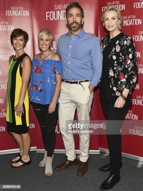 Director/Executive Producer Ellie Kanner actress Kate Mines actor/Executive Producer Paul Witten and actress/producer Jane Lynch pose for portrait at...