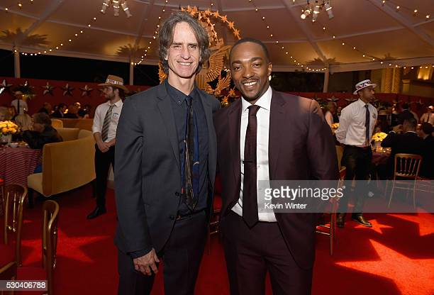 Director/Executive Producer Jay Roach left and actor Anthony Mackie attend the afterparty of the Premiere Of HBO's 'All The Way' on May 10 2016 in...