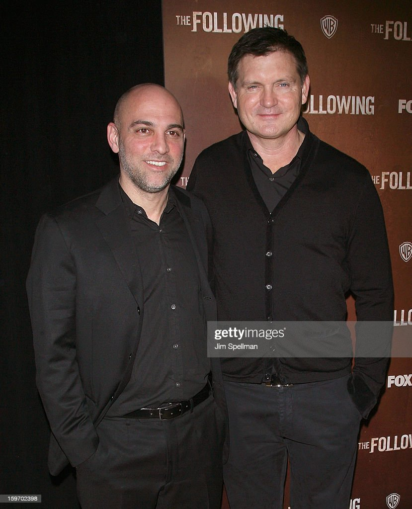 Director/executive producer Marocs Siega and creator Kevin Williamson attend 'The Following' New York Premiere at New York Public Library - Astor Hall on January 18, 2013 in New York City.