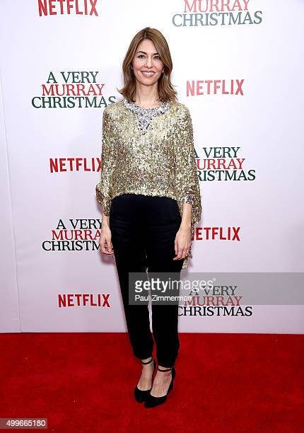 Director/Executive Producer Sofia Coppola attends 'A Very Murray Christmas' New York premiere at Paris Theater on December 2 2015 in New York City