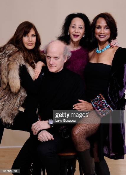Director/photographer Timothy GreenfieldSanders and models Carol Alt China Machado and Beverly Johnson pose for a portrait during the 2012 Sundance...