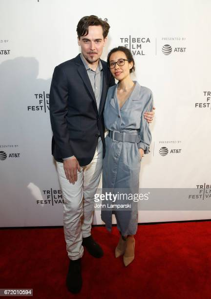 Director/producer Adrian Buitenhuis and Dana Lee attend 'I Am Heath Ledger ' during the 2017 Tribeca Film Festival at Spring Studios on April 23 2017...
