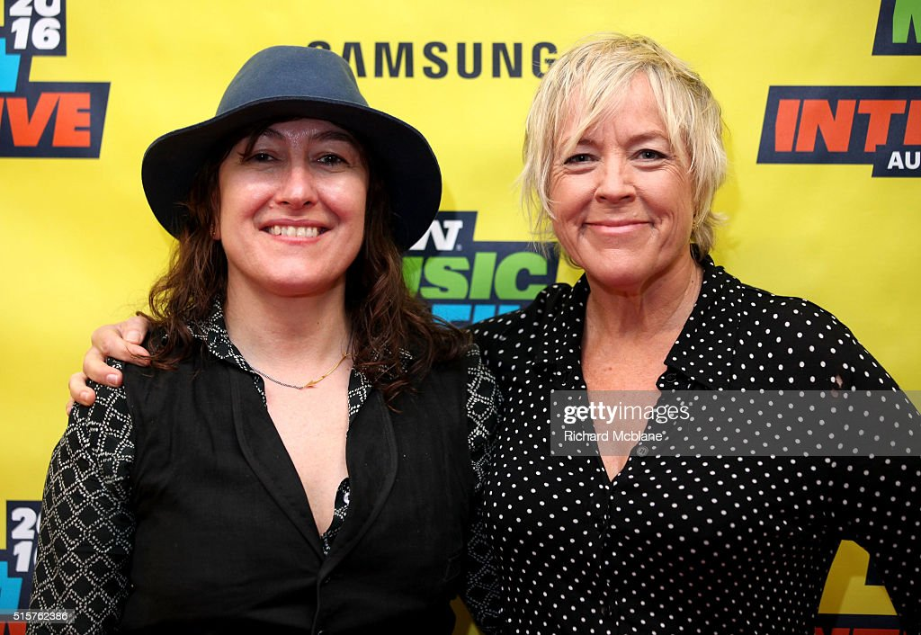 Director/producer Athina Rachel Tsangari (L) and producer Sarah Green attend 'A Conversation with Sarah Green' during the 2016 SXSW Music, Film + Interactive Festival at Austin Convention Center on March 15, 2016 in Austin, Texas.