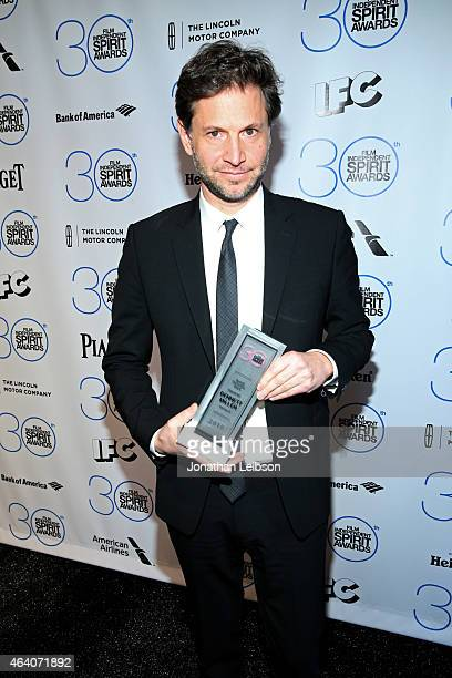 """Director/producer Bennett Miller winner of the special distinction award for """"Foxcatcher"""" poses in the press room during the 2015 Film Independent..."""