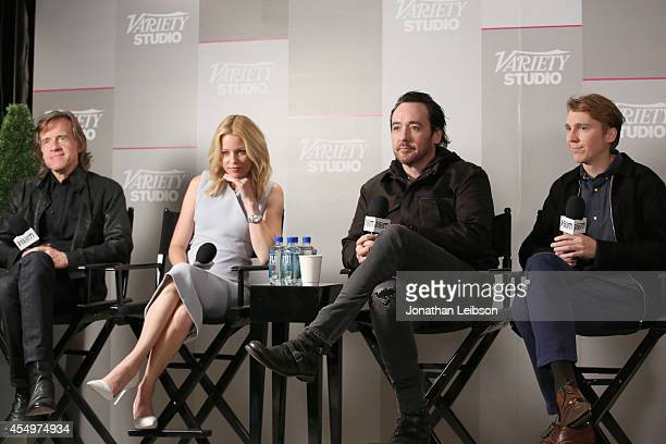 Director/producer Bill Pohlad and actors Elizabeth Banks John Cusack and Paul Dano attend the Variety Studio presented by Moroccanoil at Holt Renfrew...