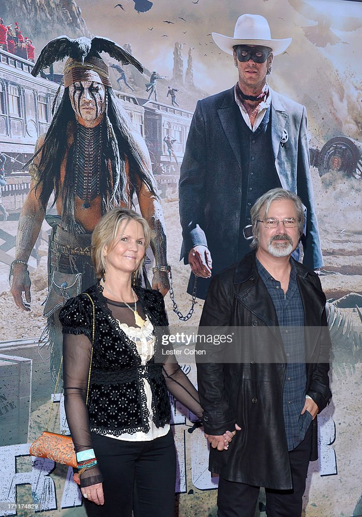 Director/Producer Gore Verbinski and Clayton Verbinski arrive at Disney's 'The Lone Ranger' World Premiere at Disney's California Adventure on June...