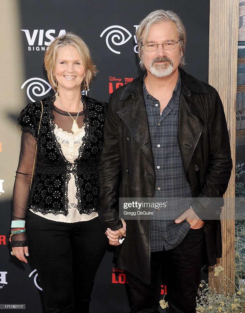 Director/producer Gore Verbinski and Clayton Verbinski arrive at 'The Lone Ranger' World Premiere at Disney's California Adventure on June 22 2013 in...
