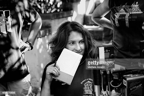 Director/producer Jill Soloway is photographed for New York Times Magazine on August 1 2014 on the set of Transparent in Los Angeles California...