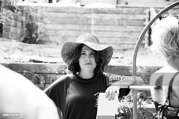 Director/producer Jill Soloway is photographed for New York Times Magazine on August 1 2014 on the set of Transparent in Los Angeles California