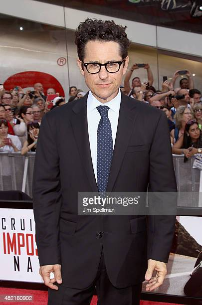 Director/producer JJ Abrams attends the 'Mission Impossible Rogue Nation' New York premiere at Times Square on July 27 2015 in New York City