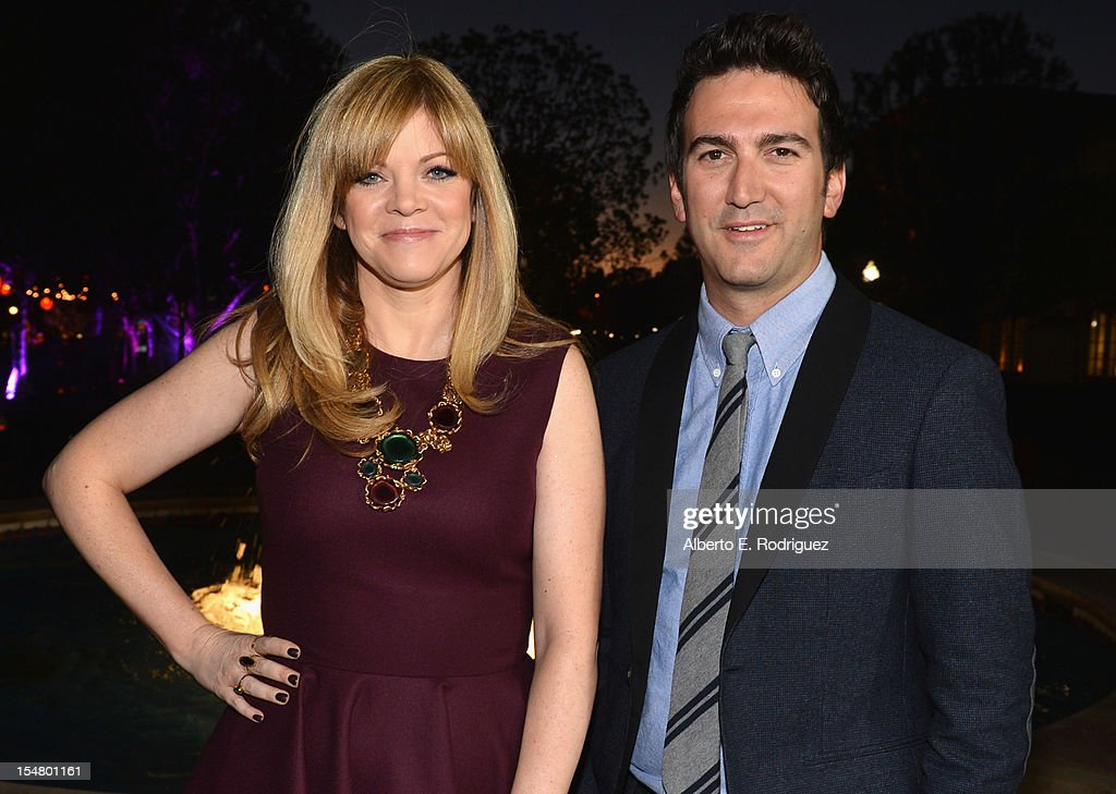 Director/producer Josh Schwartz (R) and producer Stephanie Savage arrive to the premiere of Paramount Pictures' 'Fun Size' at Paramount Theater on the Paramount Studios lot on October 25, 2012 in Hollywood, California.