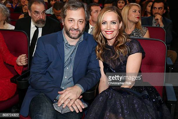 Directorproducer Judd Apatow and actress Leslie Mann attend the People's Choice Awards 2016 at Microsoft Theater on January 6 2016 in Los Angeles...