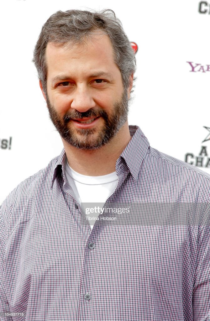 Director/Producer Judd Apatow attends Yahoo! Sports presents 'A Day Of Champions' benefiting the Bogart Pediatric Cancer Research Program at Sports Museum of Los Angeles on October 21, 2012 in Los Angeles, California.