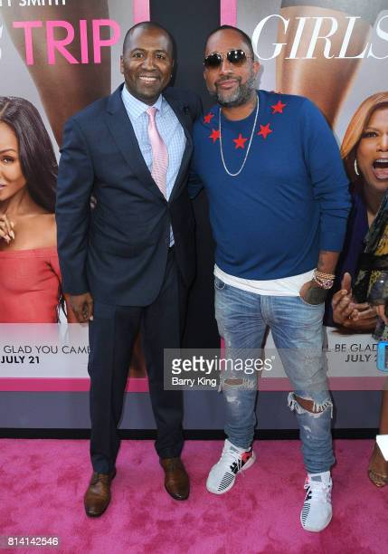 Director/producer Malcolm D Lee and writer Kenya Barris attend the premiere of Universal Pictures' 'Girls Trip' at Regal LA Live Stadium 14 on July...