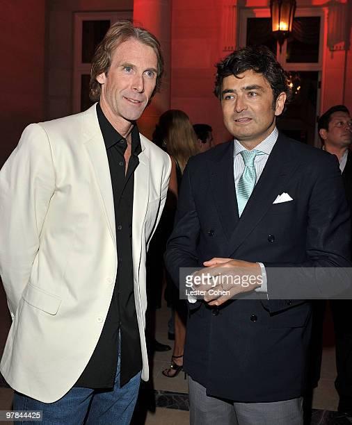 Director/producer Michael Bay and Ferrari North America CEO Marco Mattiacci attend the Ferrari 458 Italia auction event to benefit Haiti held at...