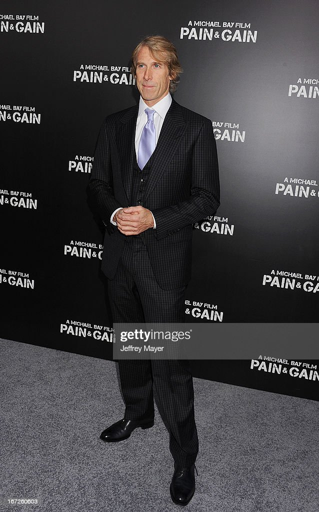 Director/producer <a gi-track='captionPersonalityLinkClicked' href=/galleries/search?phrase=Michael+Bay&family=editorial&specificpeople=240532 ng-click='$event.stopPropagation()'>Michael Bay</a> attends the 'Pain & Gain' premiere held at TCL Chinese Theatre on April 22, 2013 in Hollywood, California.