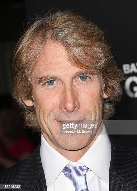 Director/producer Michael Bay attends the premiere of Paramount Pictures' 'Pain Gain' at the TCL Chinese Theatre on April 22 2013 in Hollywood...