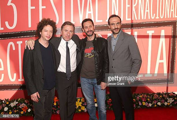 Director/producer Michel Franco actor/director Tim Roth director/producer Gabriel Ripstein and producer Moises Zonana attend The 13th Annual Morelia...