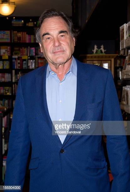 Director/producer Oliver Stone signs copies of his book 'The Untold History Of The United States' at Book Soup on November 2 2012 in West Hollywood...