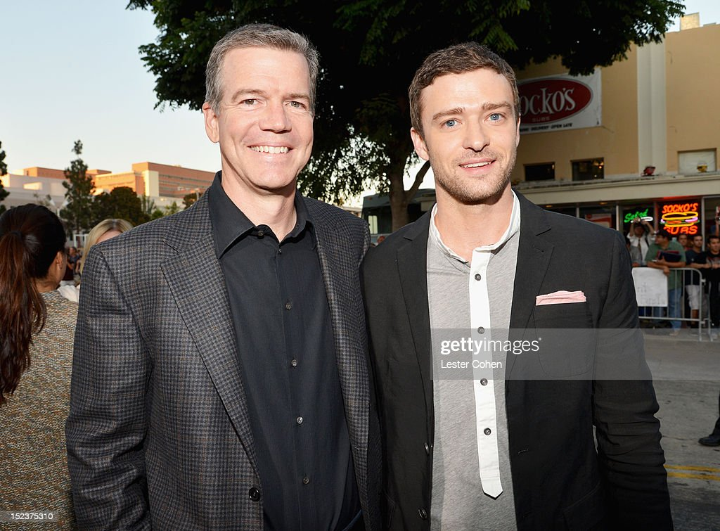 Director/Producer Robert Lorenz and ActorJustin Timberlake arrive at the 'Trouble With The Curve' Premiere at Mann's Village Theatre on September 19, 2012 in Westwood, California.