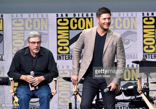 Director/producer Robert Singer and actor Jensen Ackles at the 'Supernatural' panel during ComicCon International 2017 at San Diego Convention Center...