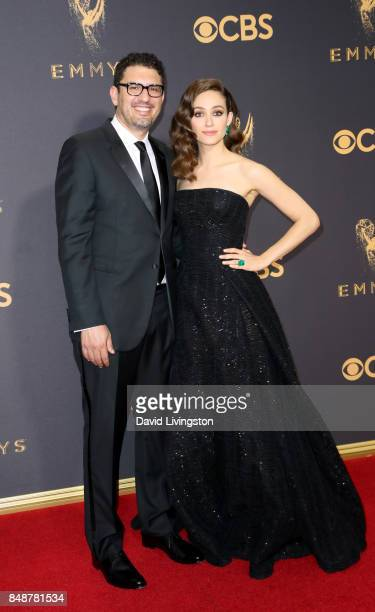 Director/producer Sam Esmail and actor Emmy Rossum attend the 69th Annual Primetime Emmy Awards Arrivals at Microsoft Theater on September 17 2017 in...
