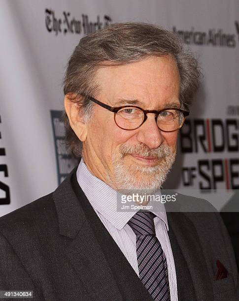 Director/producer Steven Spielberg attends the 53rd New York Film Festival premiere of 'Bridge Of Spies' at Alice Tully Hall Lincoln Center on...