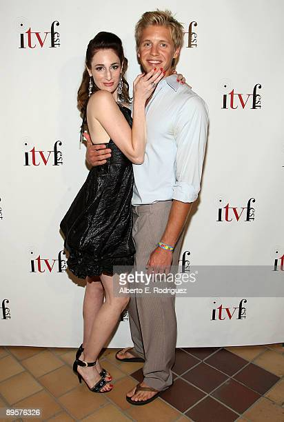 Director/producer Tamela D'Amico and actor Matt Barr arrive at the premiere of 'Sex Ed The Series' held at Laemmle Sunset 5 Theatre on August 2 2009...