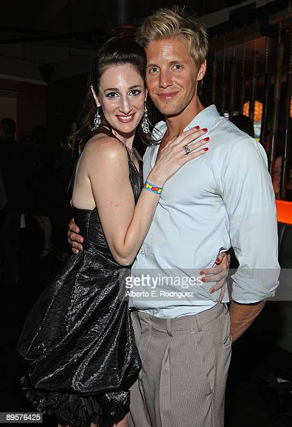 Director/producer Tamela D'Amico and actor Matt Barr attend the after party for the premiere of 'Sex Ed The Series' held at Laemmle Sunset 5 Theatre...