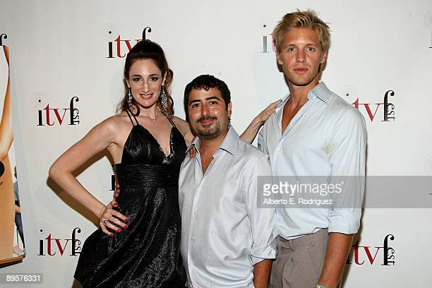 Director/producer Tamela D'Amico creator/writer Ernie Vecchionne and actor Matt Barr arrive at the premiere of 'Sex Ed The Series' held at Laemmle...