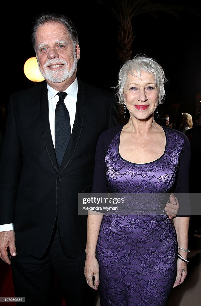 Director/producer <a gi-track='captionPersonalityLinkClicked' href=/galleries/search?phrase=Taylor+Hackford&family=editorial&specificpeople=202623 ng-click='$event.stopPropagation()'>Taylor Hackford</a> and Dame <a gi-track='captionPersonalityLinkClicked' href=/galleries/search?phrase=Helen+Mirren&family=editorial&specificpeople=201576 ng-click='$event.stopPropagation()'>Helen Mirren</a> arrive at the 22nd Annual Palm Springs International Film Festival Awards Gala at the Palm Springs Convention Center on January 8, 2011 in Palm Springs, California.