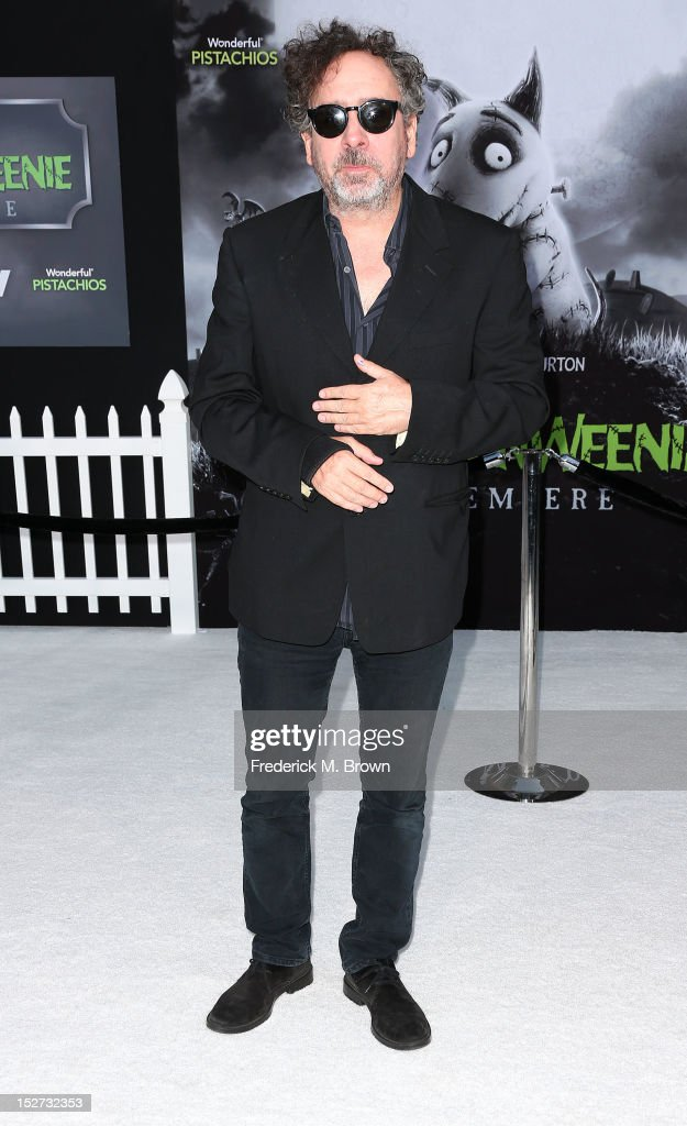 Director/producer Tim Burton attends the Premiere Of Disney's 'Frankenweenie' at the El Capitan Theatre on September 24, 2012 in Hollywood, California.