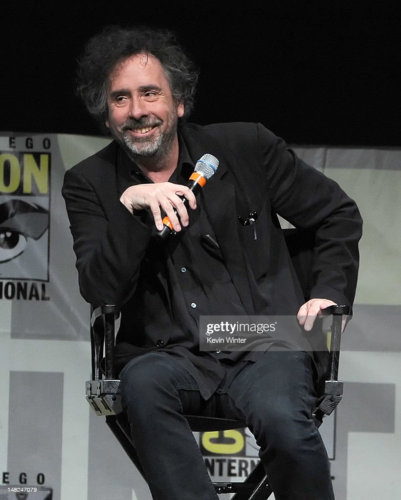 Director/producer <a gi-track='captionPersonalityLinkClicked' href=/galleries/search?phrase=Tim+Burton&family=editorial&specificpeople=206342 ng-click='$event.stopPropagation()'>Tim Burton</a> speaks at the 'Frankenweenie' panel during Comic-Con International 2012 at San Diego Convention Center on July 12, 2012 in San Diego, California.