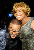 Director/producer Tyler Perry and comedian Sherri Shepherd attend the 45th NAACP Image Awards presented by TV One at Pasadena Civic Auditorium on...