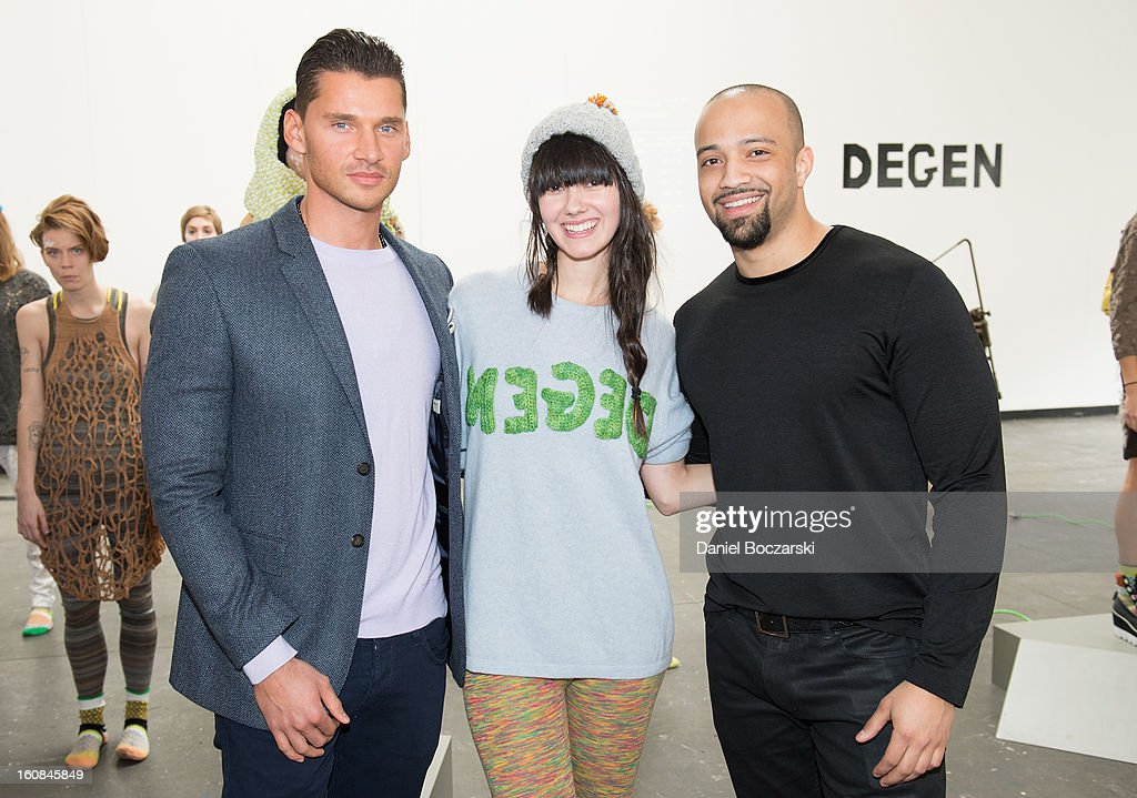 Director/producer <a gi-track='captionPersonalityLinkClicked' href=/galleries/search?phrase=Vlad+Yudin&family=editorial&specificpeople=5451307 ng-click='$event.stopPropagation()'>Vlad Yudin</a>, designer Lindsay Degen and producer Edwin Mejia attend The Vladar Company Presents Lindsay Degen's Fall/Winter 2013 Collection 'Doctors Degen' at Industria Superstudio on February 6, 2013 in New York City.