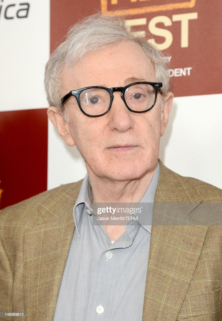 Director/producer <a gi-track='captionPersonalityLinkClicked' href=/galleries/search?phrase=Woody+Allen&family=editorial&specificpeople=202886 ng-click='$event.stopPropagation()'>Woody Allen</a> arrives at Film Independent's 2012 Los Angeles Film Festival Premiere of Sony Pictures Classics' 'To Rome With Love' at Regal Cinemas L.A. LIVE Stadium 14 on June 14, 2012 in Los Angeles, California.