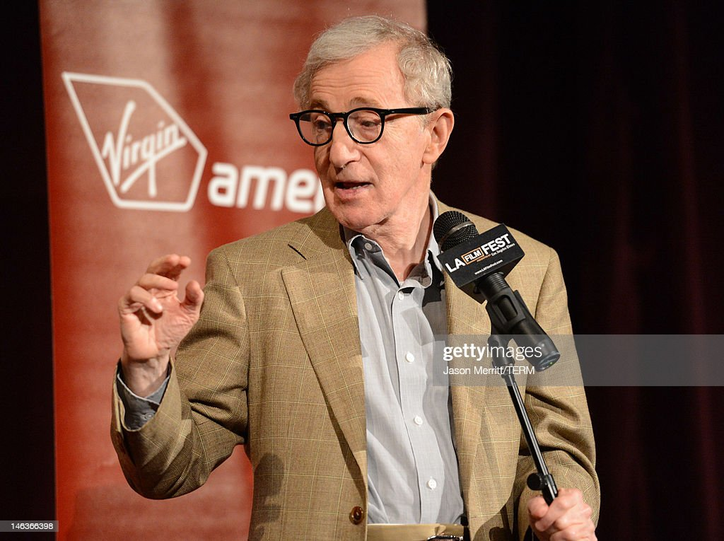 Director/producer <a gi-track='captionPersonalityLinkClicked' href=/galleries/search?phrase=Woody+Allen&family=editorial&specificpeople=202886 ng-click='$event.stopPropagation()'>Woody Allen</a> attends Film Independent's 2012 Los Angeles Film Festival Premiere of Sony Pictures Classics' 'To Rome With Love' at Regal Cinemas L.A. LIVE Stadium 14 on June 14, 2012 in Los Angeles, California.