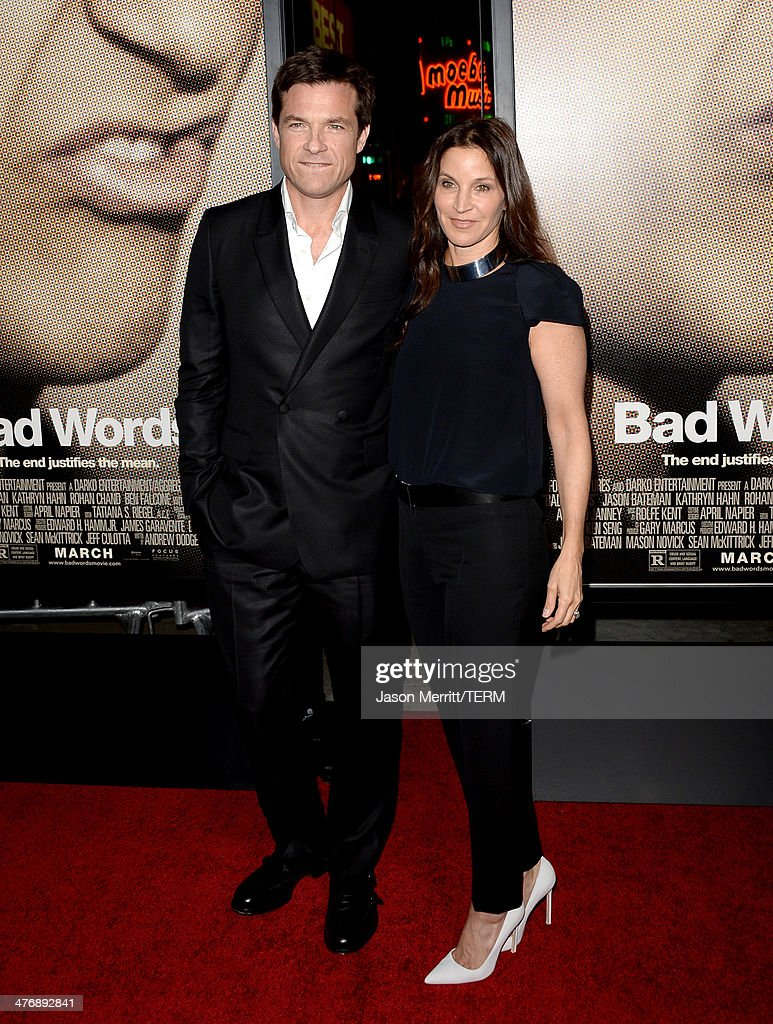 Director/producer/actor <a gi-track='captionPersonalityLinkClicked' href=/galleries/search?phrase=Jason+Bateman&family=editorial&specificpeople=204774 ng-click='$event.stopPropagation()'>Jason Bateman</a> (L) and actress <a gi-track='captionPersonalityLinkClicked' href=/galleries/search?phrase=Amanda+Anka&family=editorial&specificpeople=2465465 ng-click='$event.stopPropagation()'>Amanda Anka</a> arrive at the premiere of Focus Features' 'Bad Words' at ArcLight Cinemas Cinerama Dome on March 5, 2014 in Hollywood, California.