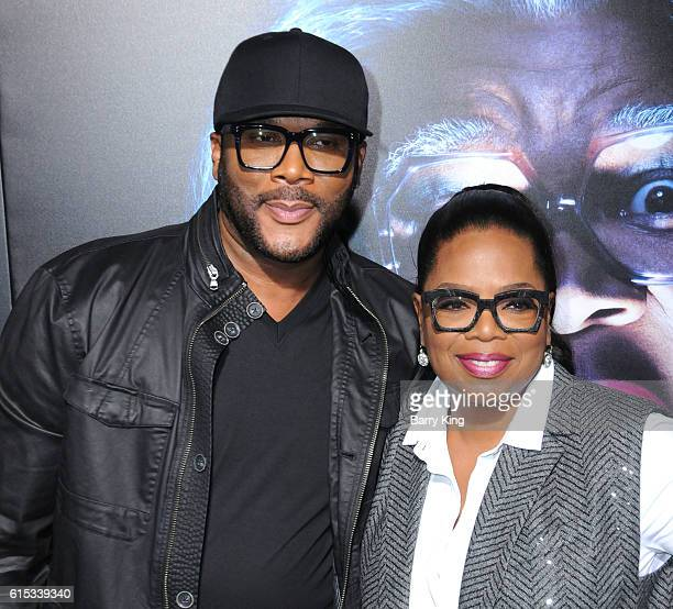 Director/producer/actor Tyler Perry and Oprah Winfrey attend the premiere of Lionsgate's' 'Boo A Madea Halloween' at ArcLight Cinemas Cinerama Dome...