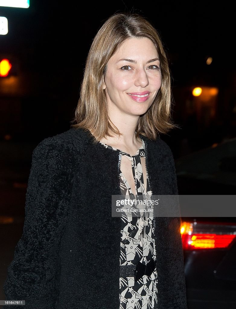 Director/producer/actress Sofia Carmina Coppola attends Fall 2013 Mercedes-Benz Fashion Show at The Theater at Lincoln Center on February 13, 2013 in New York City.