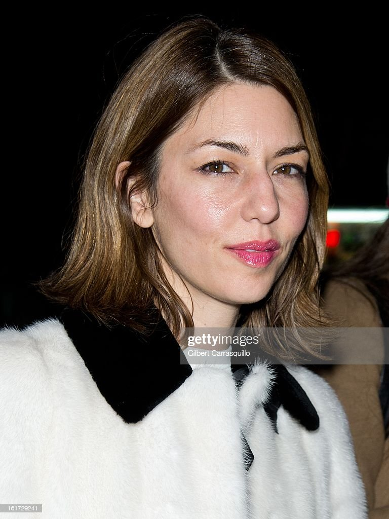 Director/producer/actress Sofia Carmina Coppola attends the Marc Jacobs Fall 2013 Mercedes-Benz Fashion Show at N.Y. State Armory on February 14, 2013 in New York City.