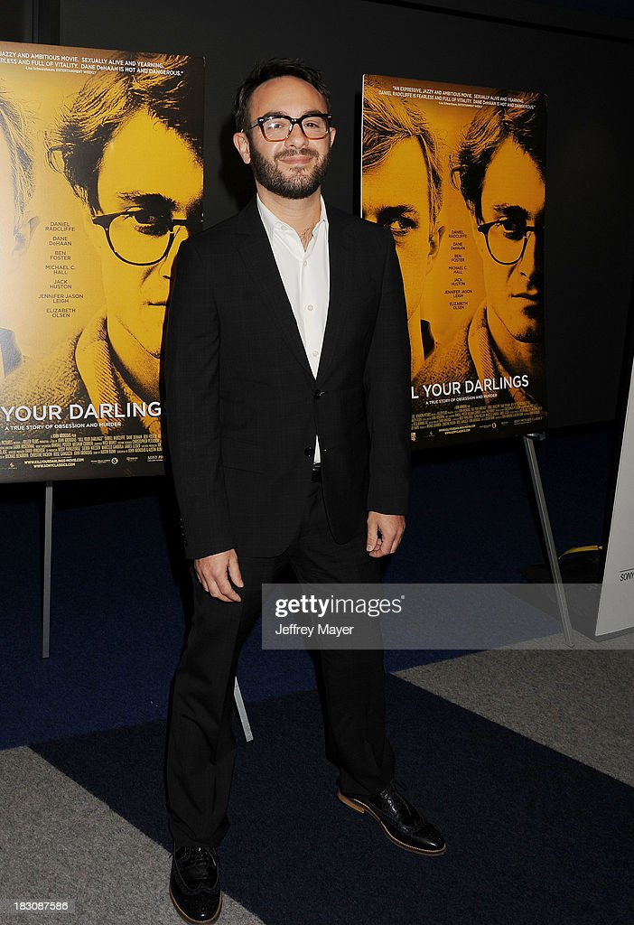 Director/producer/co-writer John Krokidas arrives at the Los Angeles premiere of 'Kill Your Darlings' at the Writers Guild Theater on October 3, 2013 in Beverly Hills, California.