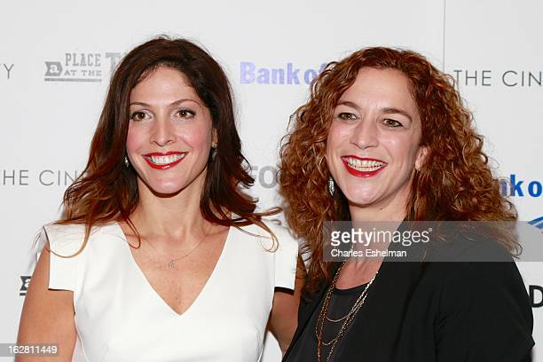 Director/producers Lori Silverbush and Kristi Jacobson arrive at Bank of America and Food Wine with The Cinema Society present a screening of 'A...